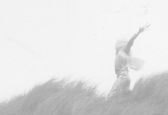 Man tanzt im wind